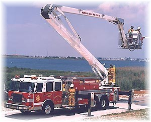 A new 91-ft. Aerial Platform with a 1500 GPM pump was placed in service in March, 2001.
